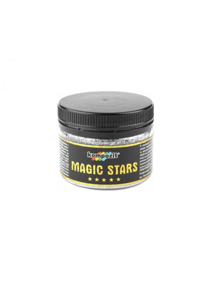 Глиттер полиэфирный KOMPOZIT MAGIC STARS декоративный  60гр бриллиант