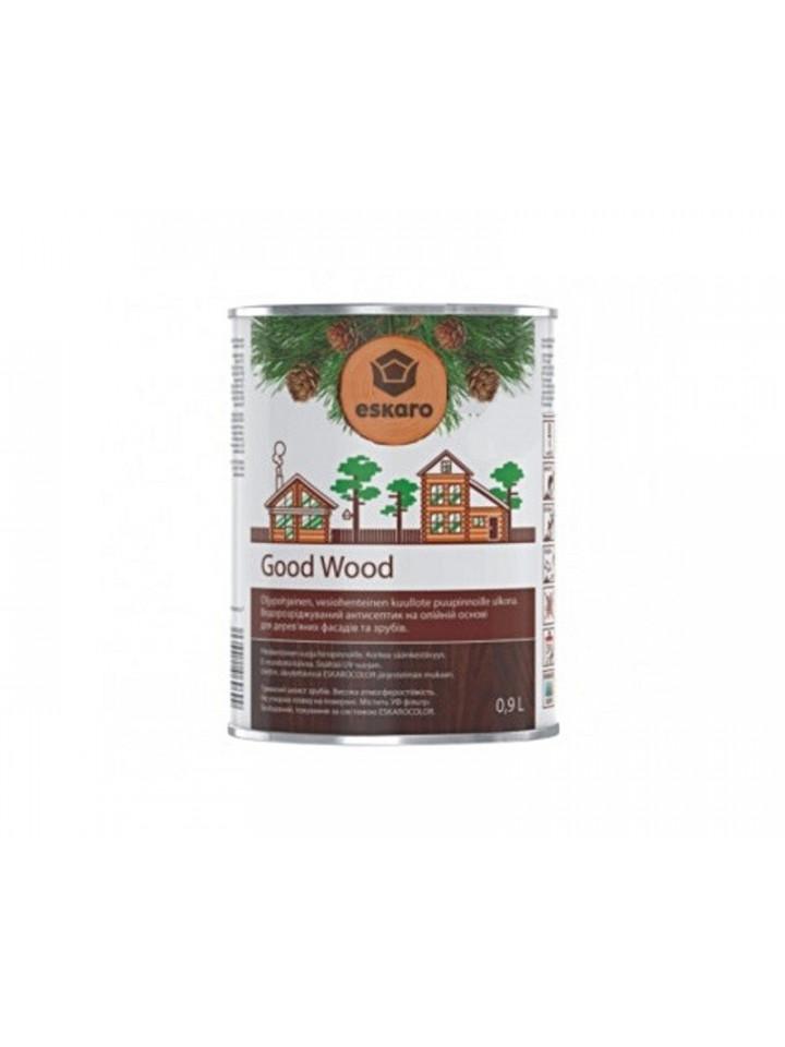 Масло антисептическое ESKARO GOOD WOOD для деревянных срубов 0,9л бесцветный (база ЕС)