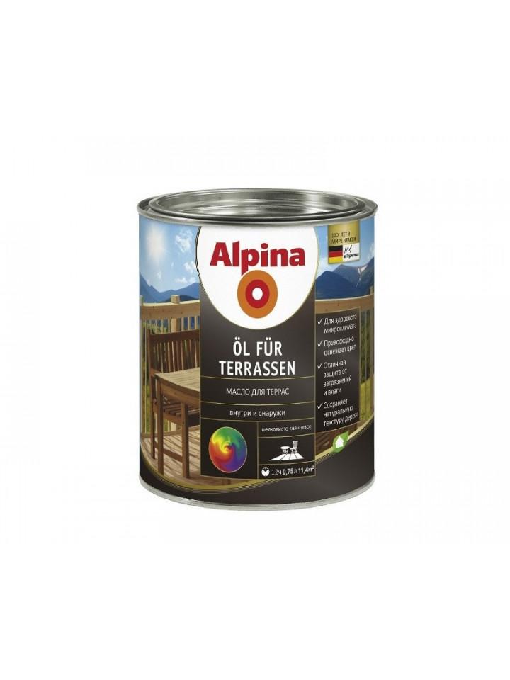 Масло вологозахисної ALPINA OEL TERRASEN для деревини