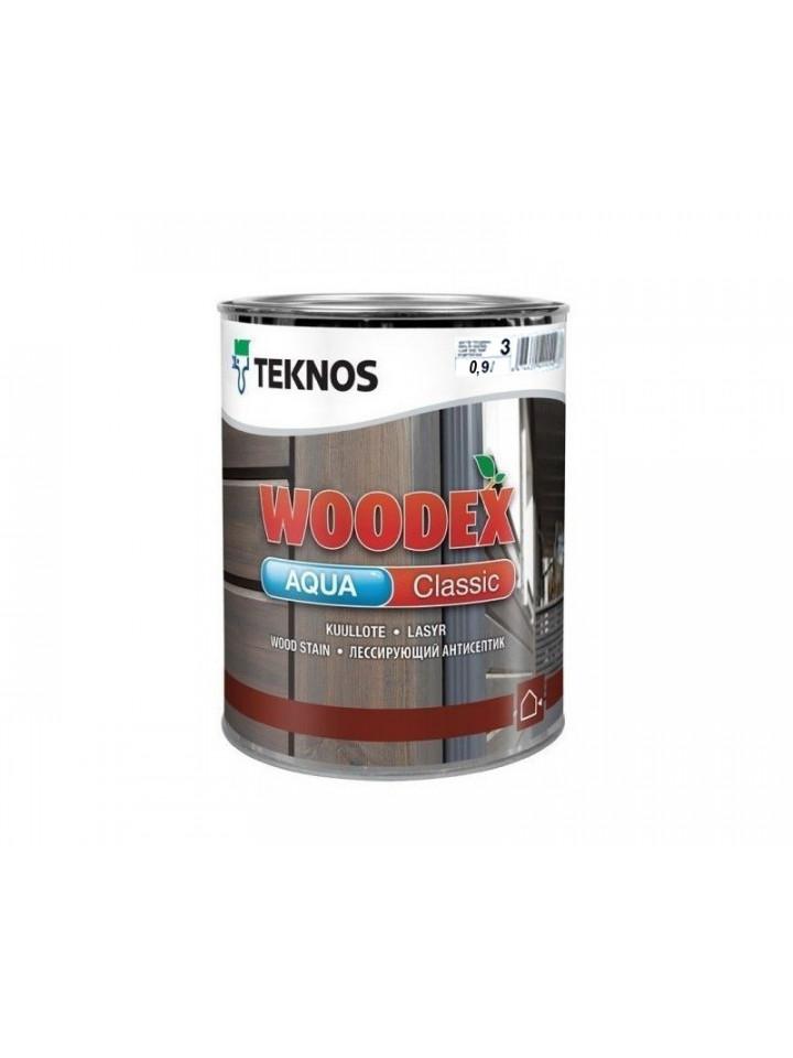Лазурь-лак антисептический TEKNOS WOODEX AQUA CLASSIC для древесины
