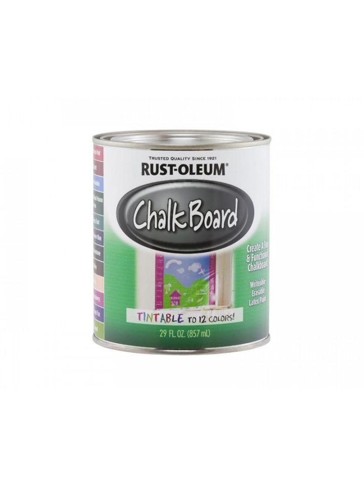Краска латексная RUST OLEUM CHALK BOARD для школьных досок 0,822л транспарентный (база для тонировки)