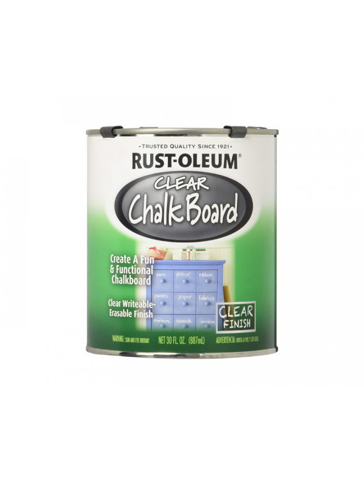Лак латексный RUST OLEUM CHALK BOARD CLEAR для школьных досок 0,946л бесцветный