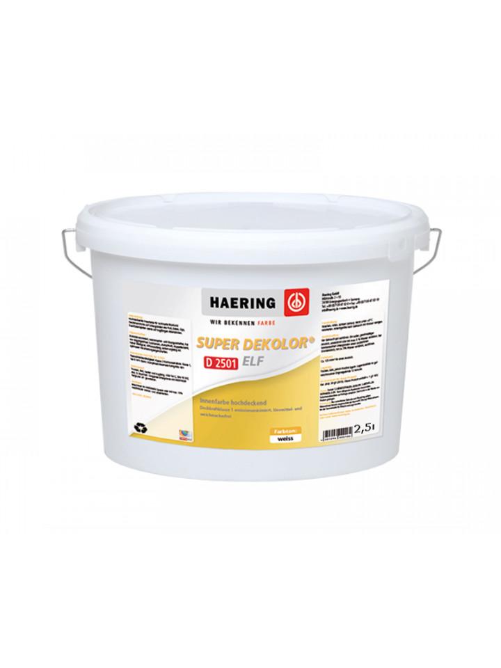 Краска акрилатная HAERING SUPER DEKOLOR ELF D2501 интерьерная 2,5л белый (база В1)