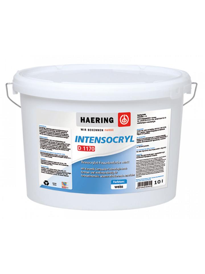 Краска теплоотражающая HAERING INTENSOCRYL D1170 фасадная 10л белый (база В1)