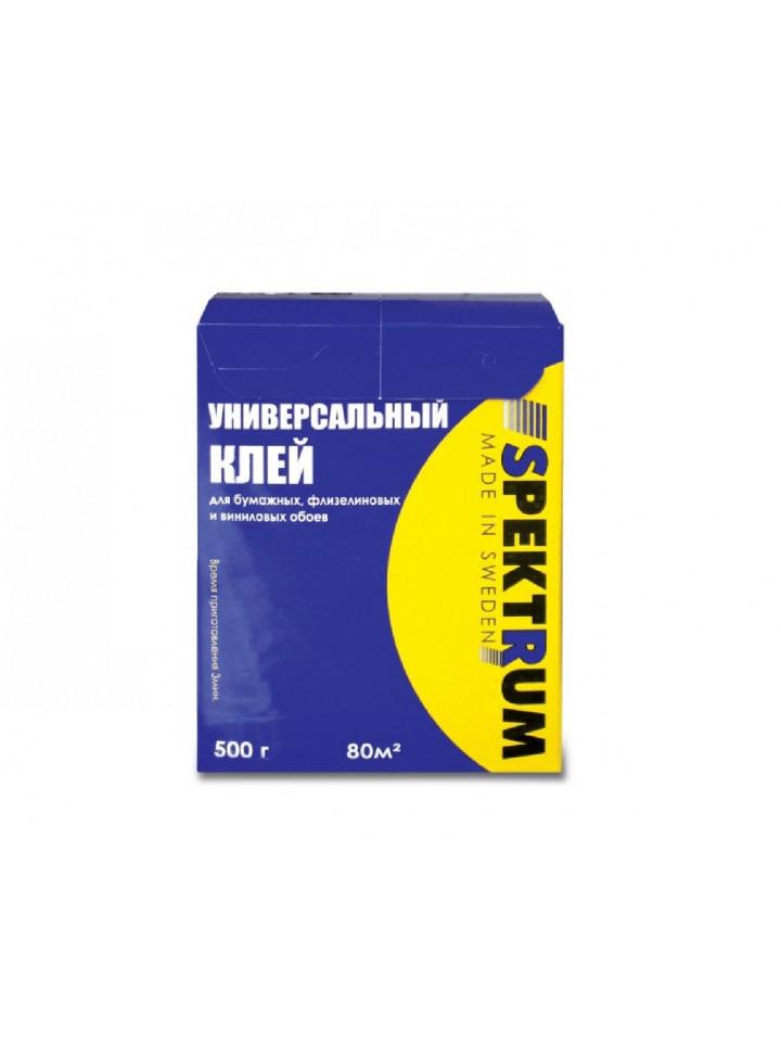 Клей порошковый SPEKTRUM УНIВЕРСАЛЬНЫЙ для бумажных и виниловых обоев 500гр белый порошок