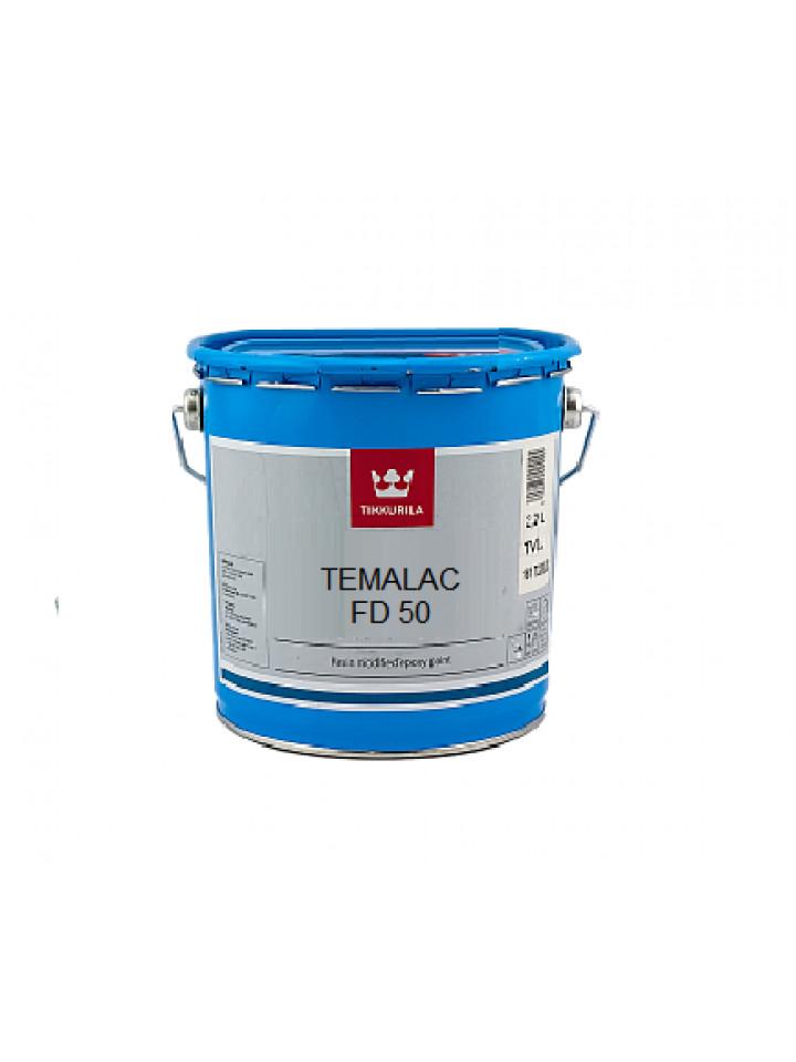 Эмаль алкидная TIKKURILA TEMALAC FD 50 антикоррозионная 2,7л белый (база TVL)