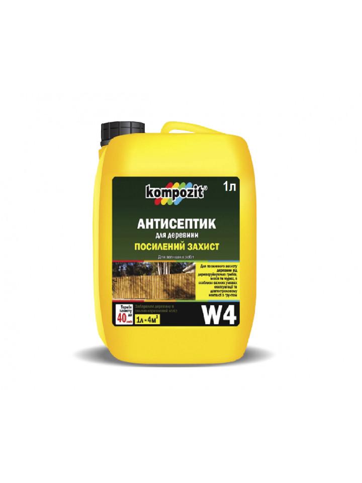 Грунтовка антисептическая KOMPOZIT W4 для подземных элементов древесины