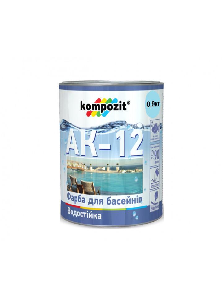 Краска акриловая KOMPOZIT АК-12 для бассейнов