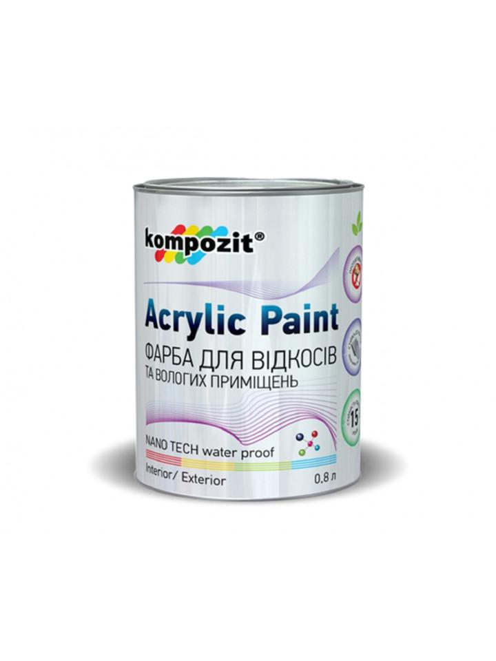 Краска антисептическая KOMPOZIT INTERIOR 9 ФАРБА для вiдкосiв