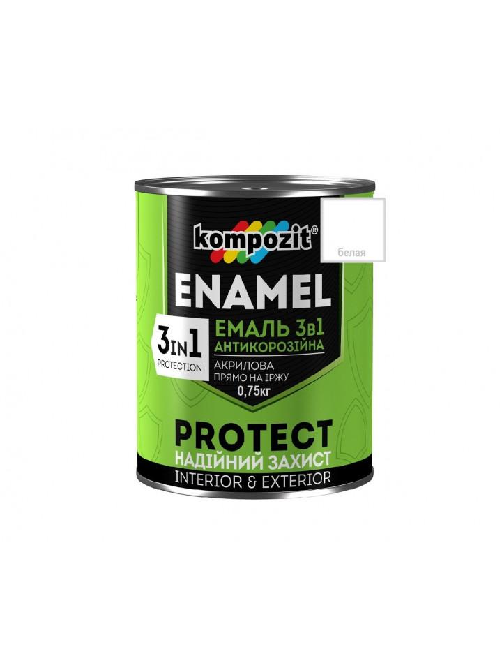 Емаль-грунт акрилова KOMPOZIT 3 в 1 PROTECT для металу і оцинковки