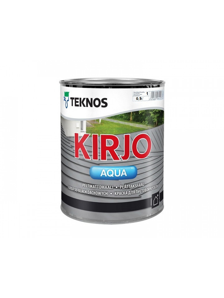Эмаль акрилатная TEKNOS KIRJO AQUA для крыш и листового металла