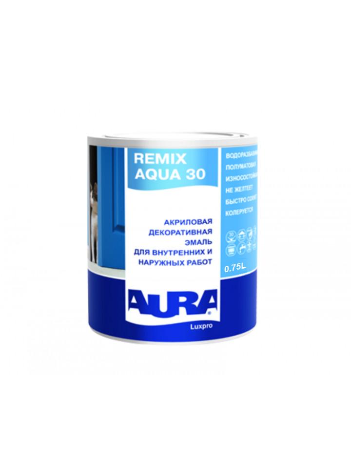 Эмаль акриловая AURA LUX PRO REMIX AQUA 70 универсальная