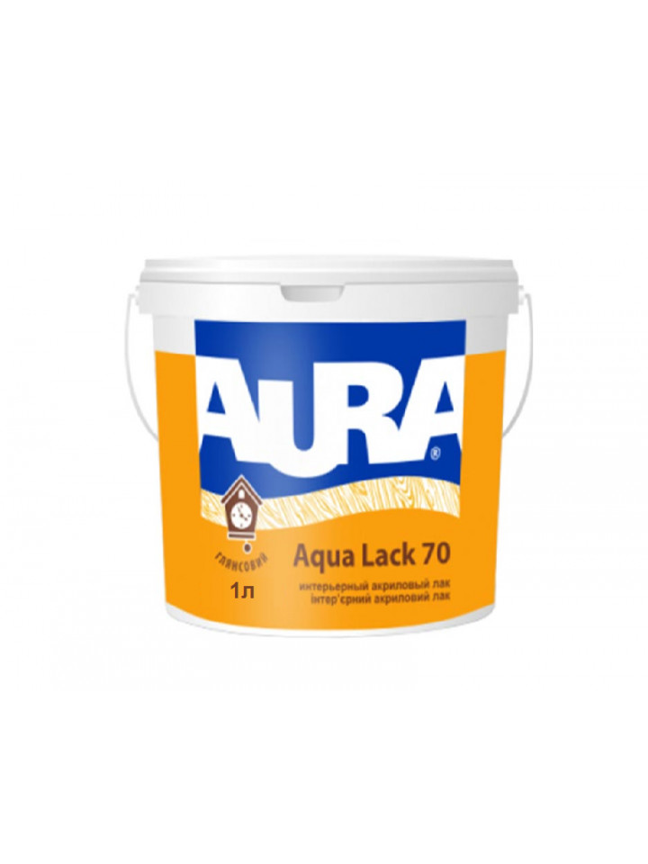 Лак акриловый AURA AQUA LACK 70 панельный 1л бесцветный (база ЕС)