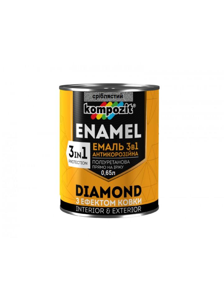 Емаль-грунт поліуретанова KOMPOZIT 3 в 1 DIAMOND антикорозійна