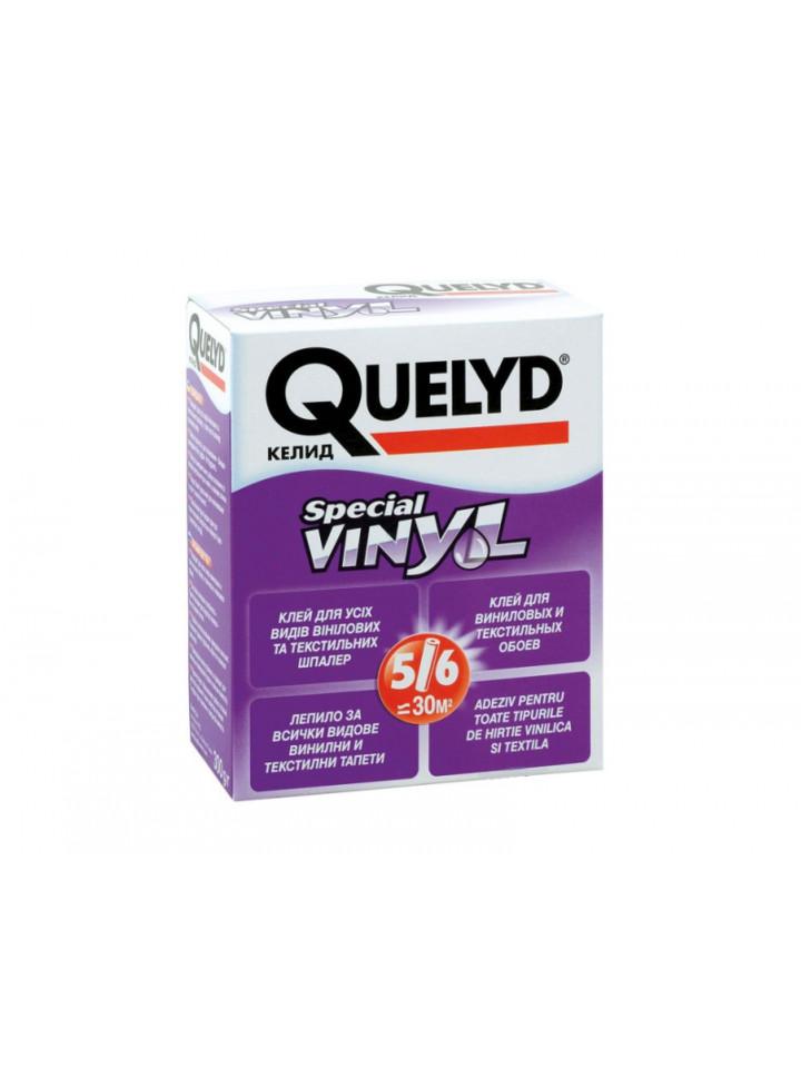 Клей порошковый QUELYD ВИНИЛ для тяжелых виниловых обоев и текстиля 300гр бесцветный