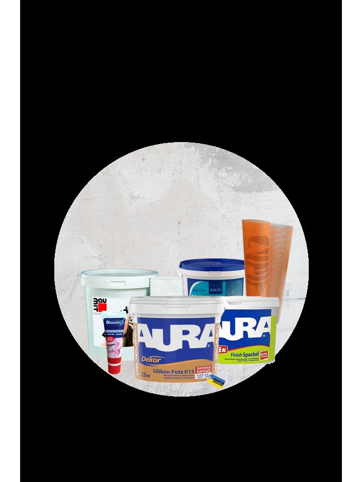 Штукатурки, шпатлевки, сухие смеси, материалы для систем утепления