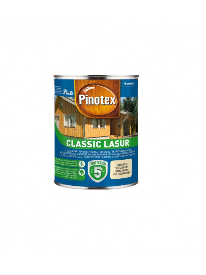 Лазурь-лак антисептический PINOTEX CLASSIC LASUR для древесины