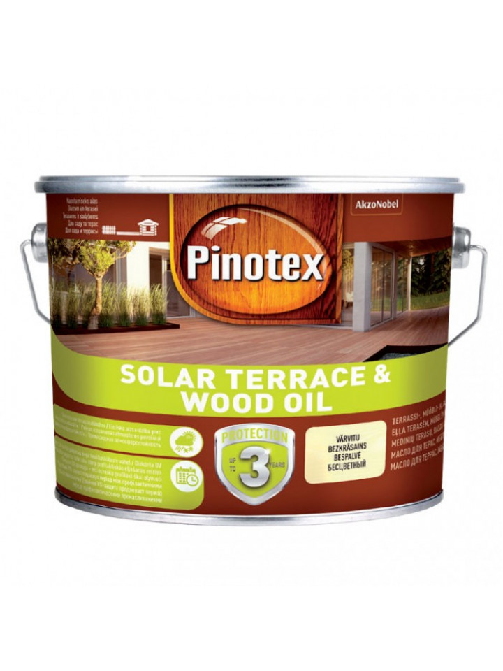 Масло с воском PINOTEX SOLAR TERRACE WOOD OIL  для мебели
