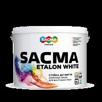 Краска акриловая SACMA ETALON WHITE интерьерная 10л белый